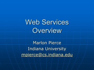 Web Services Overview - Open Grid Forum