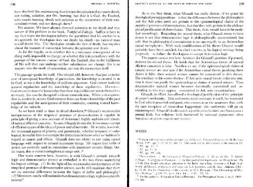 Ghazali's attitude to the secular Science and Logic - al-Ghazali's ...