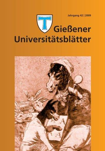 Universitätsblätter 2009 - Gießener Hochschulgesellschaft