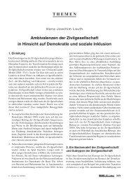 Ambivalenzen der Zivilgesellschaft in Hinsicht auf Demokratie und ...