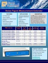 Noise Figure Measurement Extender - Gigacomp