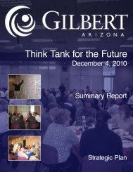 Think Tank Summary Report - Town of Gilbert