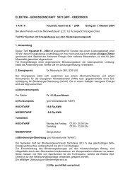 elektra - genossenschaft 5073 gipf - Gemeinde Gipf-Oberfrick