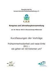 Tagungsmappe - bei der GKB eV