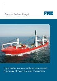 High performance multi-purpose vessels - Germanischer Lloyd