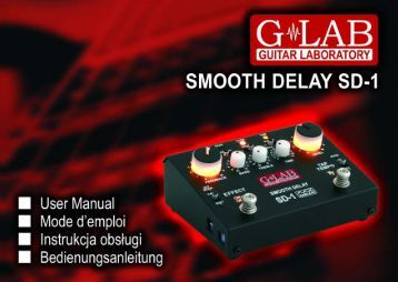 Instrukcja obsługi Smooth Delay SD-1 - G LAB