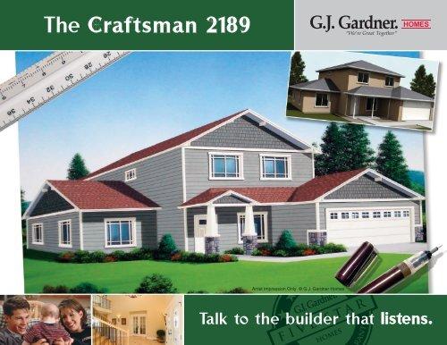 The Craftsman 2189 G J Gardner Homes