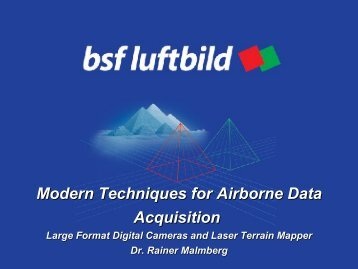 Modern Techniques for Airborne Data Acquisition