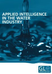 APPLIED INTELLIGENCE IN THE WATER INDUSTRY - GL Group