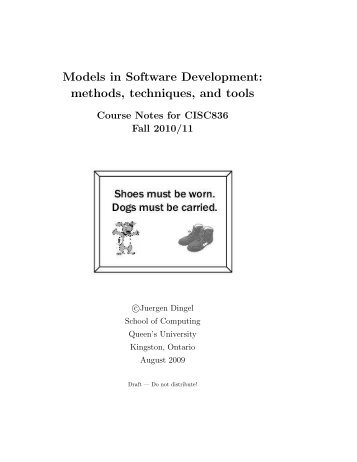 Models in Software Development: methods, techniques, and tools