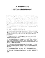 Chronologie des - Grand Lodge Bet-El