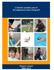 Rapport annuel 2009-2010 - GiantSteps