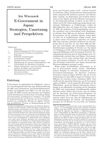 E-Government in Japan - GIGA German Institute of Global and Area ...