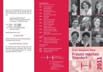 Neu Flyer Stadt Hannover Preis 2011.indd