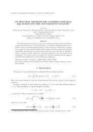 On Spectral Methods for Volterra Type Integral Equations and the ...