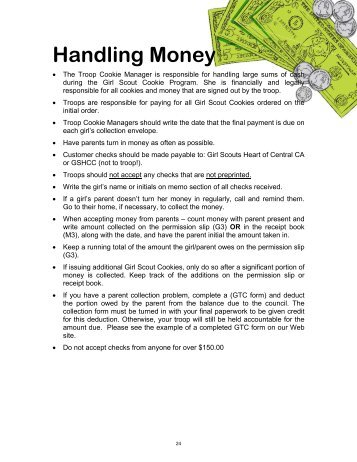 Handling Money - Girl Scouts Heart Of Central California