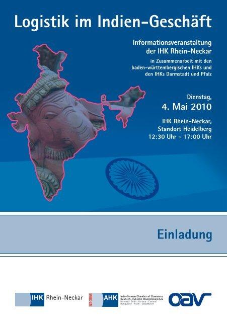 Einladung Logistik im Indien-Geschäft - Global Innovation