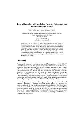 Entwicklung einer elektronischen Nase zur Erkennung von ... - Die GIL