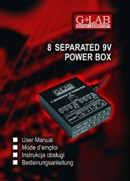 8 Separated 9V Power Box PB-1 Bedienungsanleitung - G LAB
