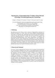 Eignung der erosionsmindernden Verfahren Strip-Till und ... - Die GIL