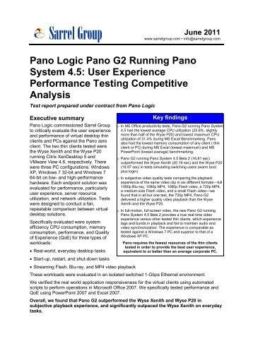 Pano Logic Pano G2 Running Pano System 4.5: User ... - binary AG