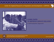 Using Data to Improve Service Delivery - A Self-Evaluation Approach