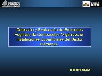 Detección y Evaluación de Emisiones Fugitivas de Compuestos ...