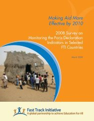 Making Aid More Effective by 2010 - Global Partnership for Education