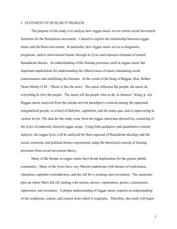 1 I. STATEMENT OF RESEARCH PROBLEM The purpose of this ...