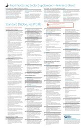 Food Processing Sector Supplement Quick Reference Sheet