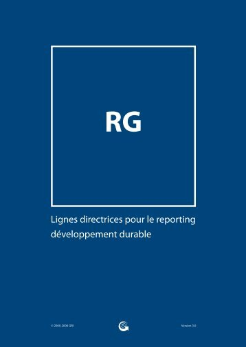Lignes directrices pour le reporting développement durable - Global ...