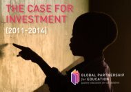 The Case for InvesTmenT - Global Partnership for Education