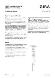 Schakelactor tweevoudig - Gira