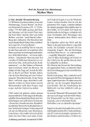 Mythos Marx - Gesellschaft für kritische Philosophie