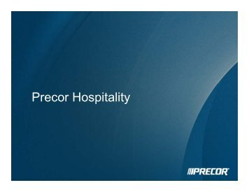 Precor Hospitality - Global Spa & Wellness Summit