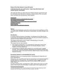 Study of the New Zealand non-profit sector Understanding the non ...
