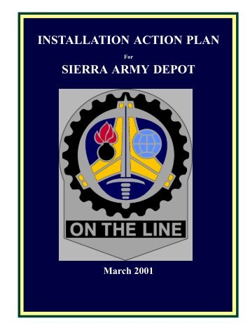 Sierra Army Depot - Installation Action Plan - GlobalSecurity.org