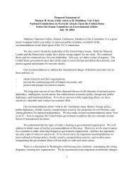 1 Prepared Statement of Thomas H. Kean, Chair and Lee H ...