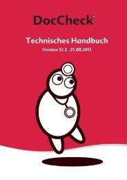 Technisches Handbuch - Doccheck
