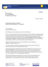 Vorstand An unsere Mitglieder und Gewerbebetriebe in Langenau ...
