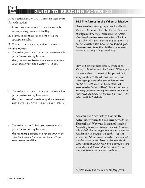 guide to reading notes 24