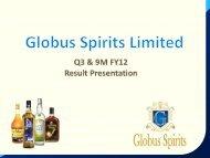 9M FY12 - Globus Spirits