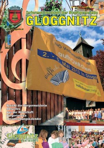 Informationsblatt 2/2013 - Stadtgemeinde Gloggnitz