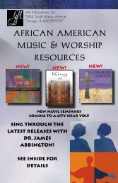 african american music & worship resources - GIA Publications