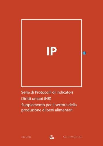 Serie di Protocolli di indicatori Diritti umani - Global Reporting Initiative