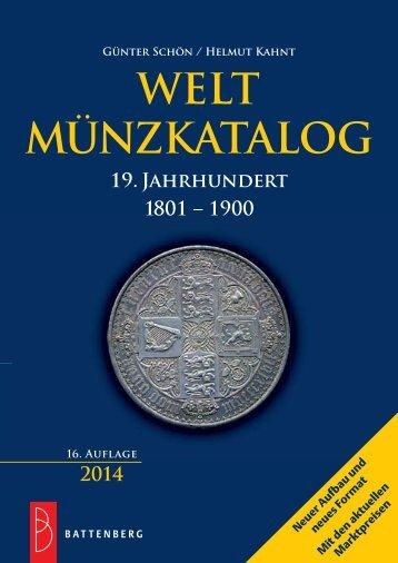Welt Münzkatalog 19. Jahrhundert