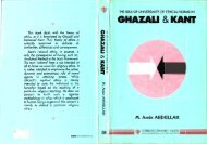 The Idea of Universality of Ethical Norms in Ghazali and Immanuel ...
