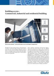 Building access - Commercial, industrial and residential ... - Glutz
