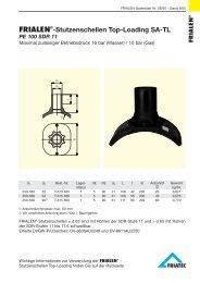 FRIALEN®-Stutzenschellen Top-Loading SA-TL PE 100 SDR 11
