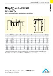FRIALEN®-Muffen UB PN25
